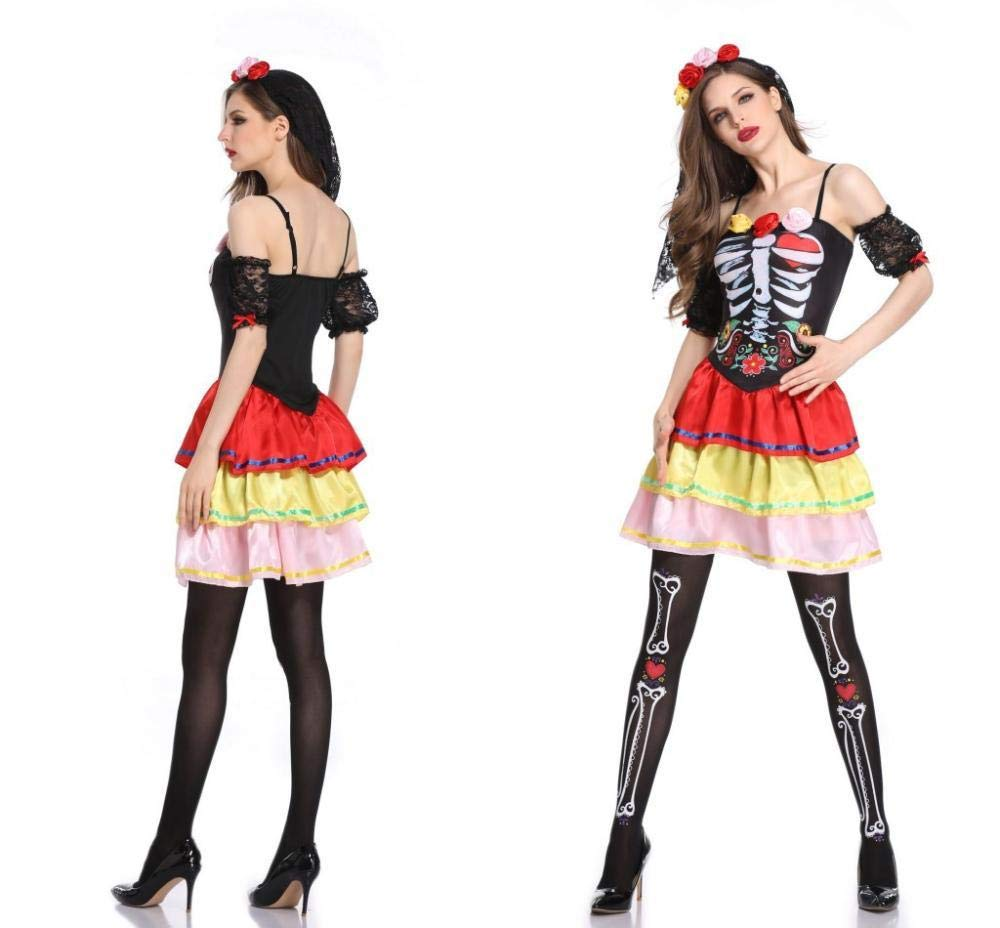 Shisky Cosplay kostüm Damen, Halloween Karneval Blume Kleid Bühne Dress Up Leistung Kostüm
