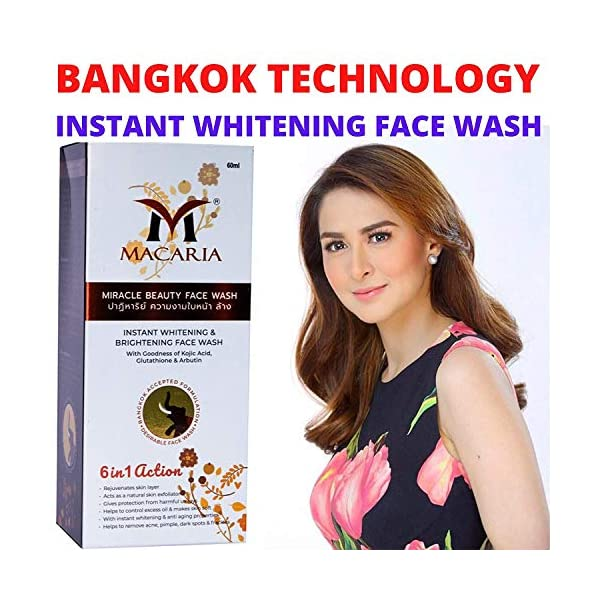 FACE WASH GEL FOR BODY WASH/BEST FACE WASH FOR SKIN WHITENING/FAIRNESS FACE WASH 2021 July BANGKOK TECHNOLOGY INSTANT RESULT WITHIN 2 MINUTE ADVANTAGE OF KOJIC ACID , GLUTATHIONE , HYALURONIC ACID , ARBUTIN ,
