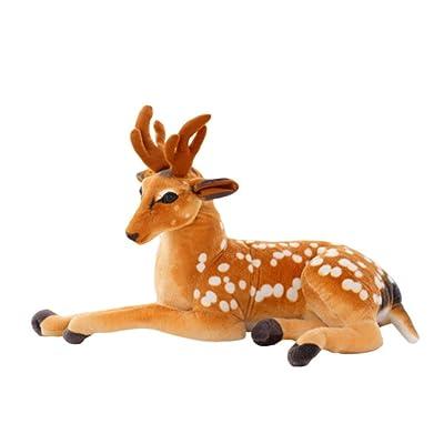 Hzjundasi Simulación artificial animales de peluche ciervos juguetes lindos suave muñeca muñeca regalo 40cm: Juguetes y juegos