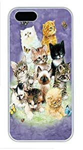 10 Kittens PC Case Cover for iPhone 5 and iPhone 5s Black
