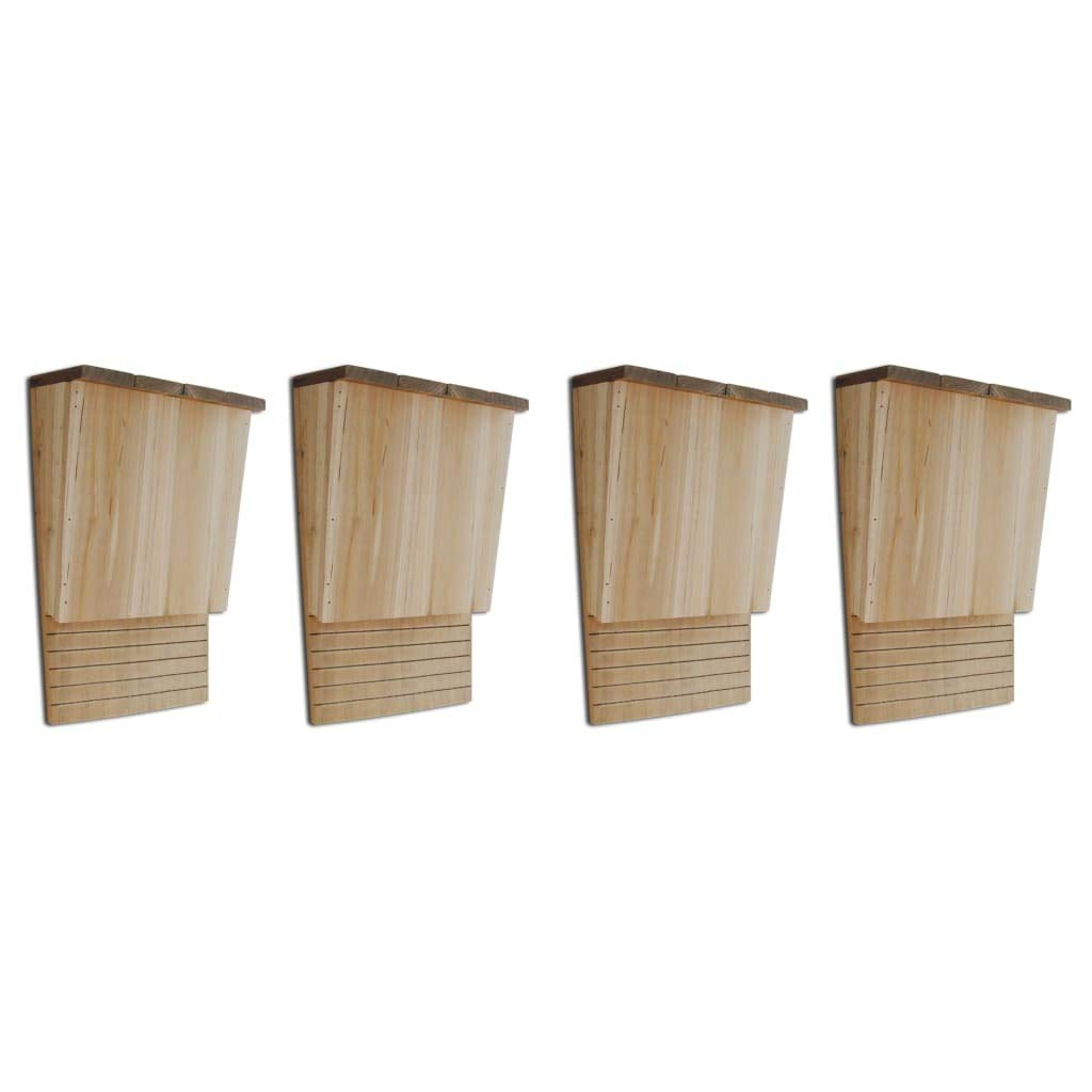 Unfade Memory Wood Bat Houses Bat Shelter Bird Products 4pcs 22x12x34 cm