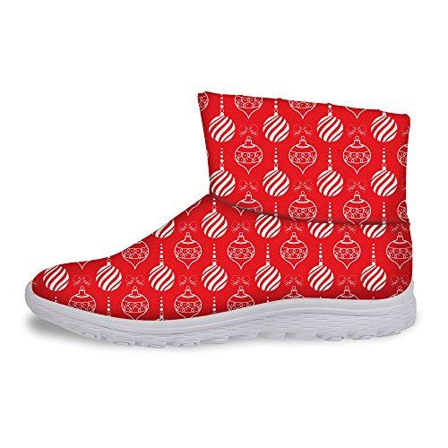Voor U Ontwerpen Mode Kerstthema Dames Schoenen Winter Warm Korte Laarzen Schoenen Lantaarn