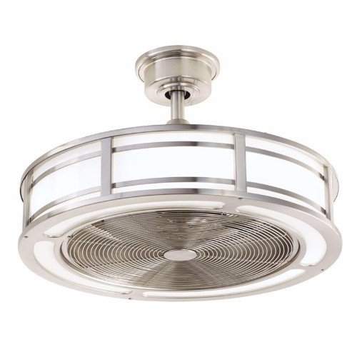 LED Indoor/Outdoor Brushed Nickel Ceiling Fan