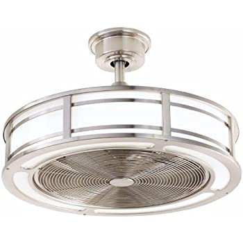 Home decorators collection brette 23 in led indooroutdoor brushed home decorators collection brette 23 in led indooroutdoor brushed nickel ceiling fan aloadofball Images