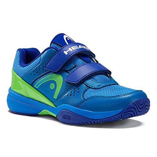 HEAD Unisex-Kinder Sprint Velcro Junior 2.0 Tennisschuhe Blau (Blue/green)
