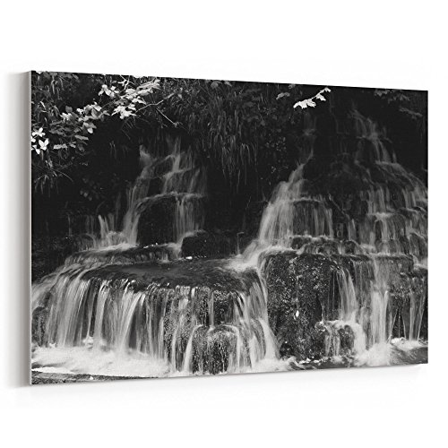 Westlake Art - Water Waterfall - 12x18 Canvas Print Wall Art - Canvas Stretched Gallery Wrap Modern Picture Photography Artwork - Ready to Hang 12x18 Inch (D41D8) ()