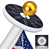 Tranmix 32 LED Solar Flag Pole Light, Solar Powered Flagpole Lights for Most 15-25 Ft Flags Top, Auto Turn/Off Weatherproof