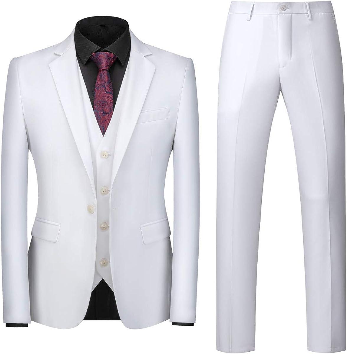 mogu mens 3 piece white dress suit set at amazon men s clothing store mogu mens 3 piece white dress suit set