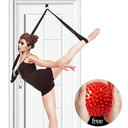 YAVOUN Stretch Band with Massage Ball,to Improve Leg Stretching for Ballet, Dance & Gymnastics Training, Excellent Gift for Your Friends and Loved Ones