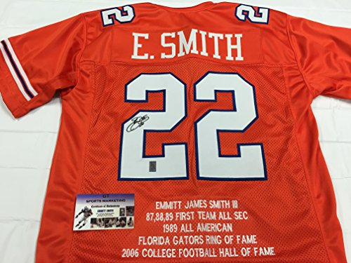 Emmitt Smith Autographed Signed Custom Florida Gators RARE STAT Orange JERSEY Dallas Cowboys Jersey GTSM Emmitt Personal COA & (Emmitt Smith Autograph)