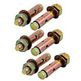 Portal Cool M10x60mm Zinc Plated Sleeve Anchor Expansion Bolt Bronze Tone 6pcs