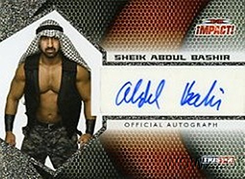 Aheil Abdul 2009 Tristar TNA Impact Wrestling #A1-52 Hand Signed TNA AUTOGRAPH Limited Edition CARD in MINT Condition! Shipped in Ultra Pro Top Loader to Protect it! -