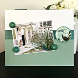 """Life More Beautiful green inspiring love vintage classic gift handmade magnetic picture frame holds 5"""" x 7"""" photo 9"""" x 11"""" size"""