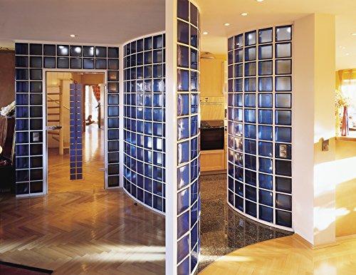 5x Glasbaustein Wolke blau 19x19 cm - 5er Sparpack: Amazon.de ... | {Duschabtrennung glasbausteine 77}