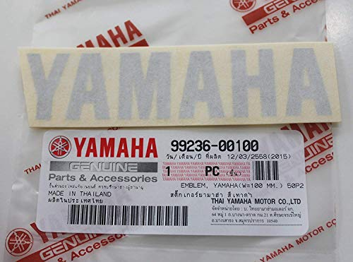 Yamaha 99236-00100 - Genuine Yamaha Decal Sticker Emblem Logo 100MM X 23MM Metallic Silver Self Adhesive Motorcycle / Jet Ski / ATV / Snowmobile