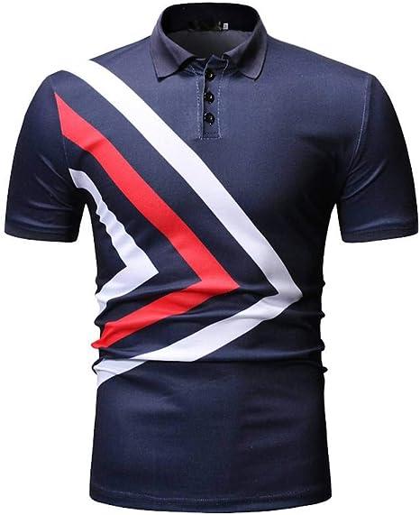 XJWDTX Camisa Polo De Moda Casual para Hombre De Verano ...