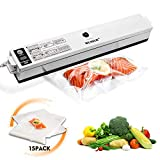 Welhunter Vacuum Sealer,Food Vacuum Packing Machine with Vacuum Hose Automatic Vacuum Sealing System for Dry Food Preservation or Compact Things