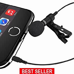 The #1 Rated Deluxe Microphone System- Lavalier Microphone Can Be Used On All Phones, Karaoke, Youtube, Studio; Microphone System For Computers; Lapel Dynamic Mic Noise Cancelling Microphone