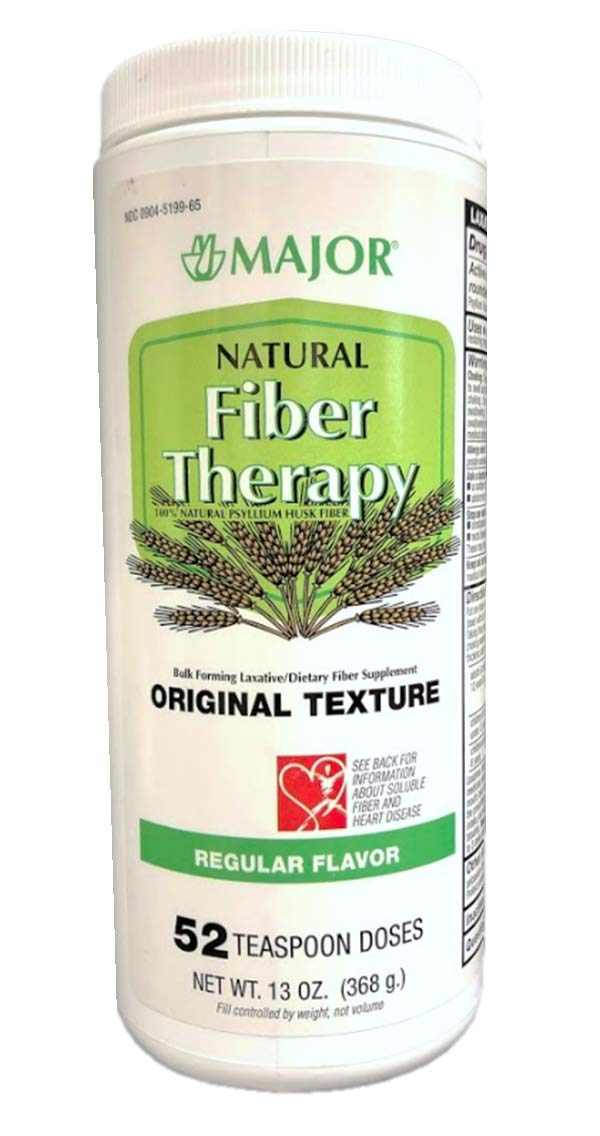 Major Natural Fiber Therapy, Regular Flavor, Original Texture, 13 oz (Pack of 4)