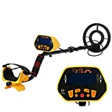 KKmoon Fully Automatic Metal Detector with LCD Display Treasure Hunter Sensitive Search Gold Digger Black Yellow