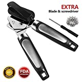 Can Opener Manual Tin Opener Stainless Steel Can Opener Heavy Duty Tin Opener with Lids Off Dishwasher
