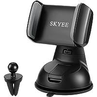 Soporte Movil para Coche con Ventosa, SKYEE [2 en 1] Soporte Télefono Coche para Parabrisas/Salpicadero/Rejilla de Ventilaciónde Giro 360 Grados Universal para iPhone X 8/8 Plus, GPS y Otros Movíles