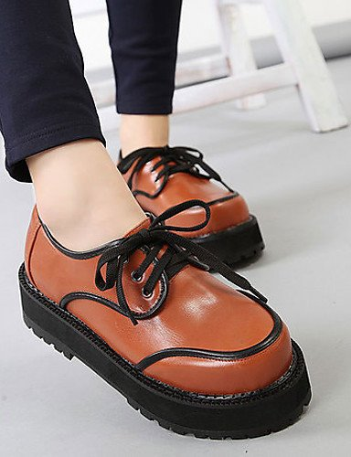 Similpelle Oxford Bordeaux Scarpe Comfort Cn39 Outdoor Nero Marrone Njx Uk6 Borgogna Eu39 us8 Platform Donna Aa8qa4wz