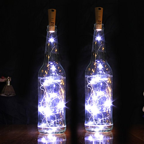 Goldluxury Wine Bottle Lights,Set of 9 White Colors LED Wire String Lights for Bottle DIY, Party, Decor, Christmas, Halloween, Wedding or Mood Lights(9pcs (Diy Halloween Decor Ideas)