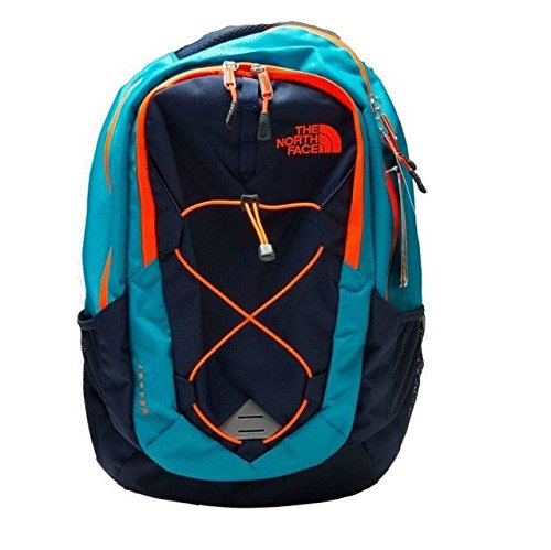 The North Face Jester Backpack Enamel Blue/Shocking Orange Size One Size by The North Face