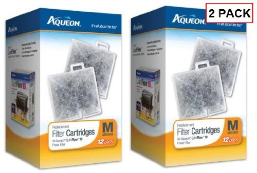Aqueon Filter Cartridge Medium Size 24-pack