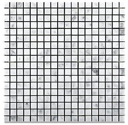 Carrara White Italian Carrera Marble Square Mosaic Tile 5//8 x 5//8 Honed