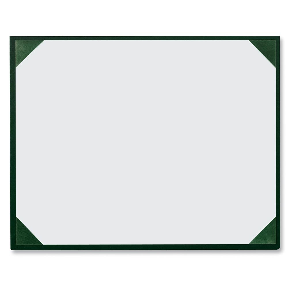 Green Leatherette Award Boards with Acetate Overlay, 9 x 11-½ Inches, Pack of 3