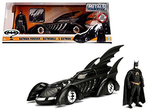 Batmobile Diecast Car (JADA 1:24-Metals Forever Batmobile & Batman Diecast Vehicle)