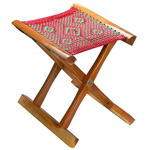 Kichwit Handmade Folding Stool for Fishing Camping Gardening – Super Comfortable Seat – Holds up to 250 lbs