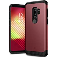 Caseology [Legion Series] Slim Heavy Duty Protection Dual Layer Armor Cover for Samsung Galaxy S9 Plus (2018) (Burgundy)