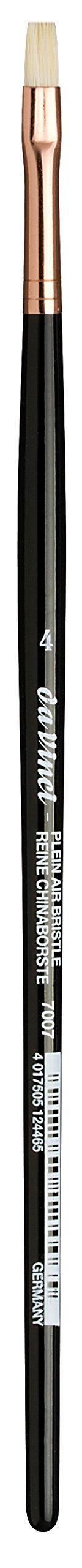 da Vinci Hog Bristle Series 7007 Plein Air Oil Painting Brush, Flat Short with Black Lacquered Handle and Copper Ferrule, Size 4 (7007-04)