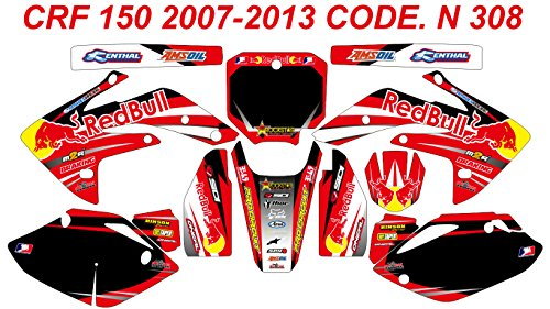 N 308 HONDA CRF 150 2007-2016 DECALS STICKERS GRAPHICS KIT