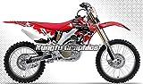 Kungfu Graphics Custom Decal Kit for Honda CRF250R 2006 2007, Red Black White