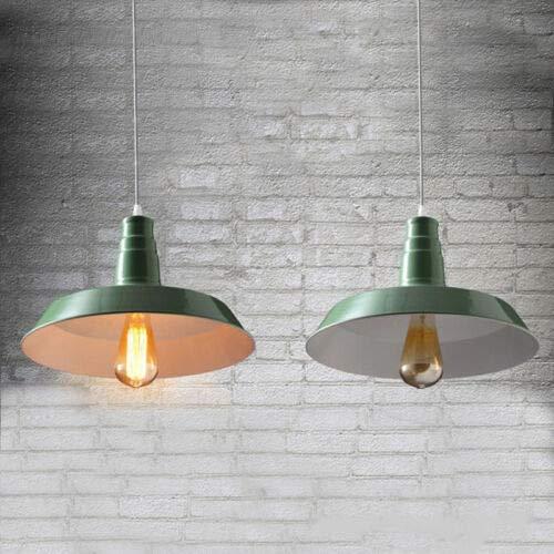 FidgetGear 26/36cm Industrial Loft Pendant Light Chandelier Lid-Shape Aluminum Ceiling Lamp Green 26cm by FidgetGear (Image #1)