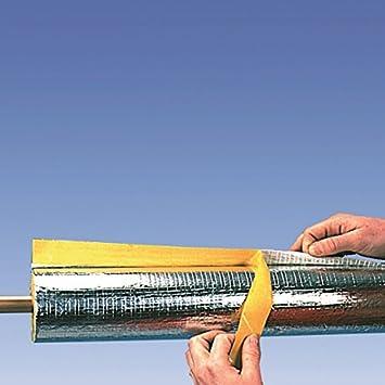 Rauchrohrisolierung Steinwolle alukaschiert 100 x 40 mm Kaminrohrschale