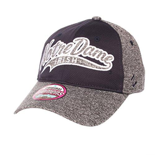 Zephyr NCAA Notre Dame Fighting Irish Women's Tempest Hat, Adjustable, Grey/Team Color