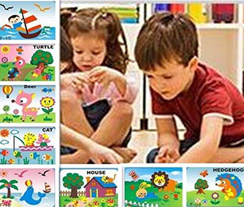 Vytung 20 Pcs Educational Preschool Diy 3d Eva Foam Art and Craft Painting Sticker Large Puzzle Kit Toys ()