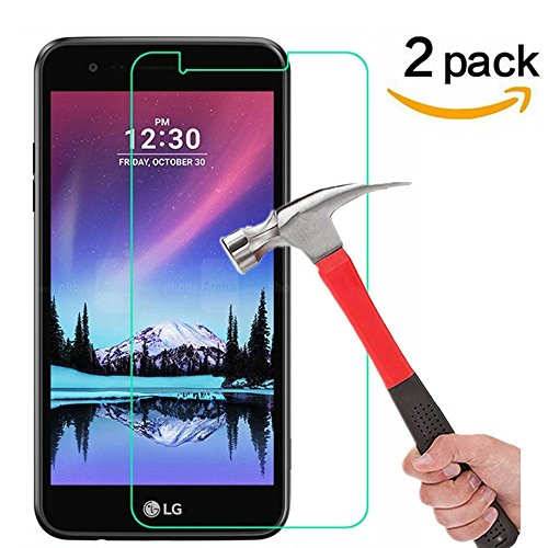 LG K20 V / K20V (Verizon) / LG K20 Plus / LG V5 / LG K10 2017 Screen Protector, [ 2 Pack ] Tempered Glass Asstar 9H Hardness 2.5D Tempered - 2017 Cute Glasses