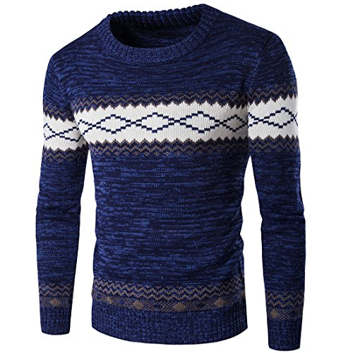 Winter Men's Long Sleeve Casual Sweater Warm Knitting Pullover ()