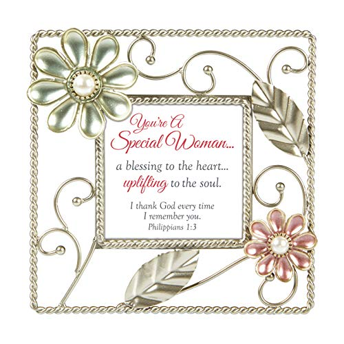 US Gifts A Special Woman - Phil. 1:3-6'' SQ Framed Tabletop