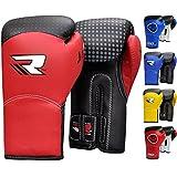 RDX Kids 6oz Maya Hide Leather Boxing Gloves MMA Training Junior Punch Bag Muay Thai Mitts