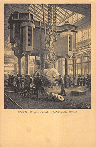 (Essen Germany Krupps Factory Hydraulic Press Workers Antique Postcard K15124)