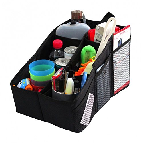 AutoMuko Car Organizer, Car Console Organizer with 6 Large Pockets, Adjustable Dividers for Keeping Miscellaneous Items Organized- Use in Front or Back to Store Kids' Toys, Books, Snacks etc ()
