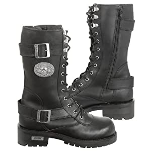 Xelement X29409 Womens Black Performance Leather Boots - 7