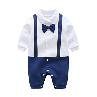 84f04107f20a Amazon.com: Baby Coveralls Summer Uniform, 100% Cotton, for 0-1 Year ...